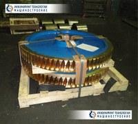 Двойной механизм в приводе червячного колеса черт. № Дф-7942
