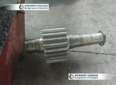 Вал-шестерня черт. №3В32.17.01-2 привода мельницы МАП
